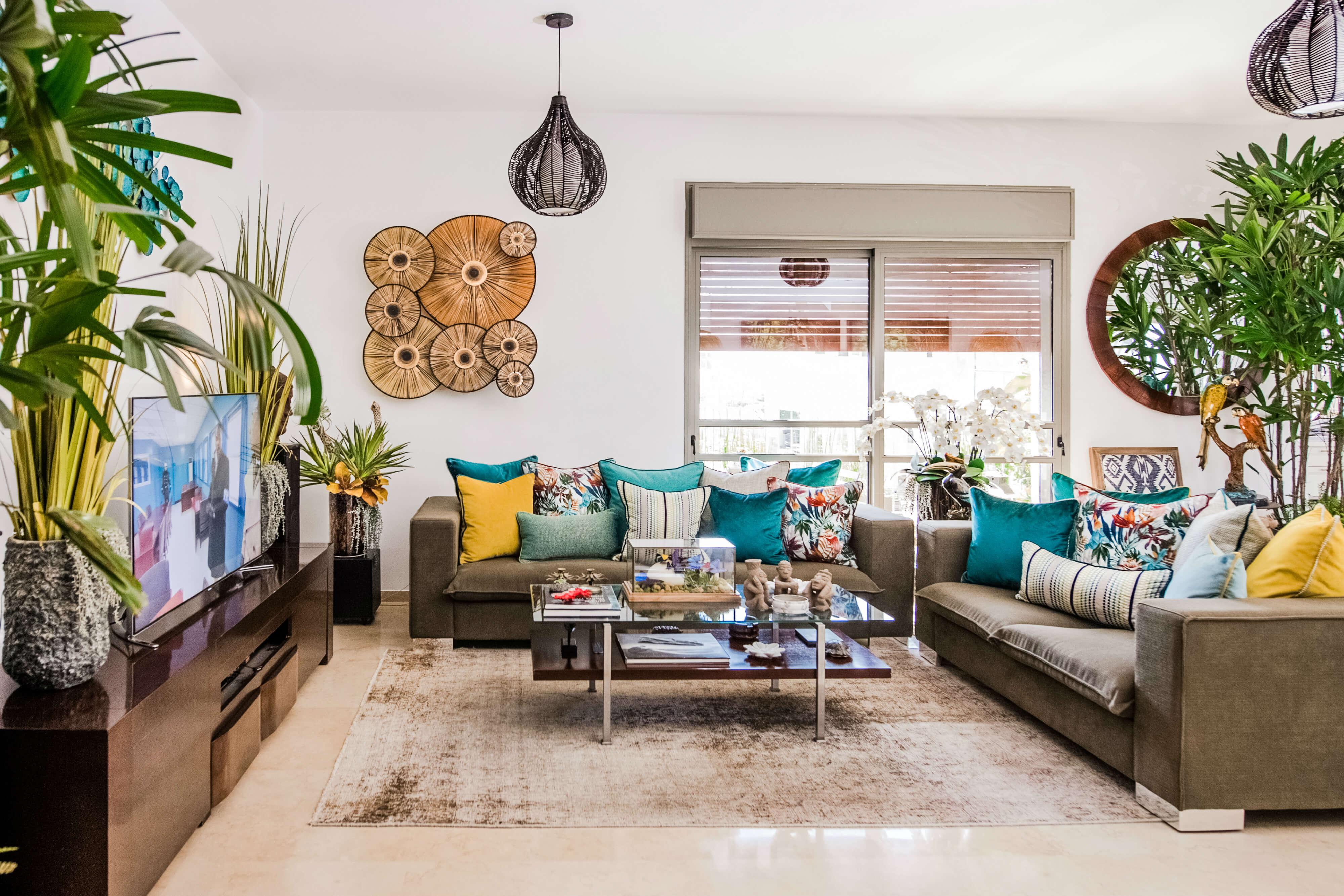 הום סטיילינג לסלון בדירה בתל אביב