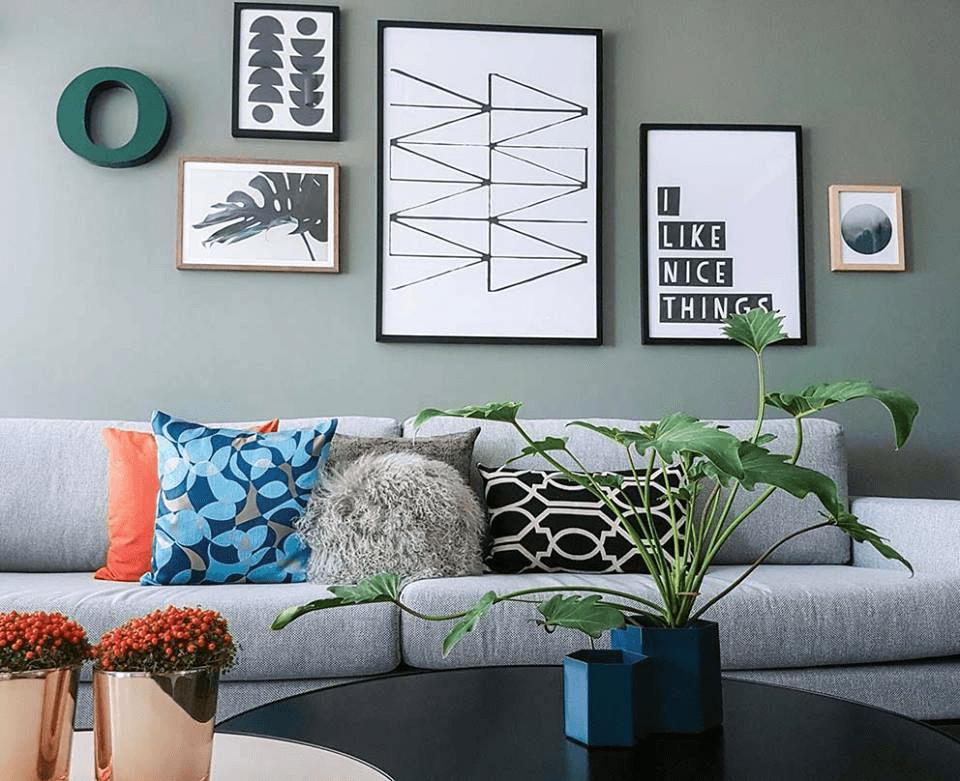 עיצוב סלון בדירה שכורה