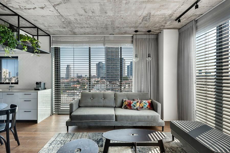 סלון מעוצב בדירת דופלקס