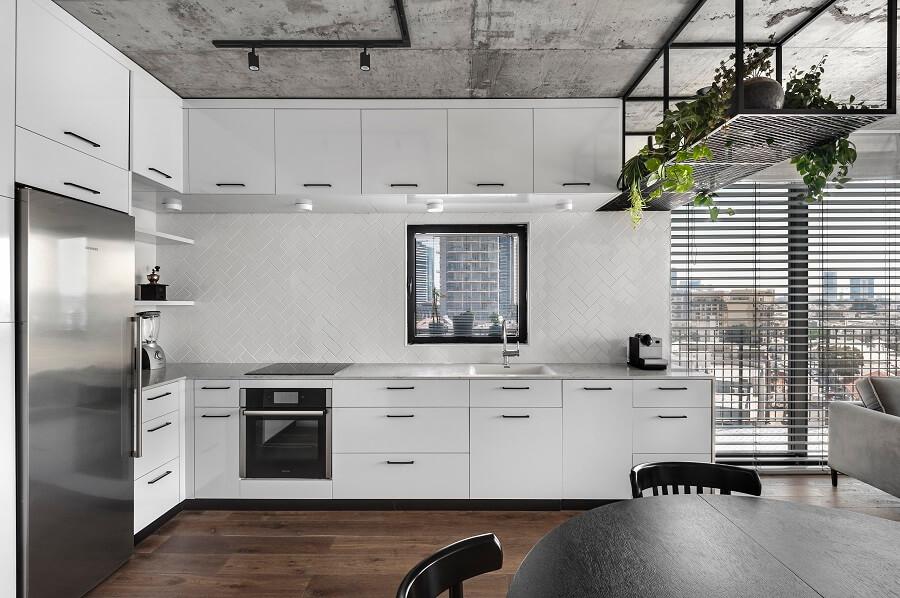 מטבח מעוצב בדירת דופלקס
