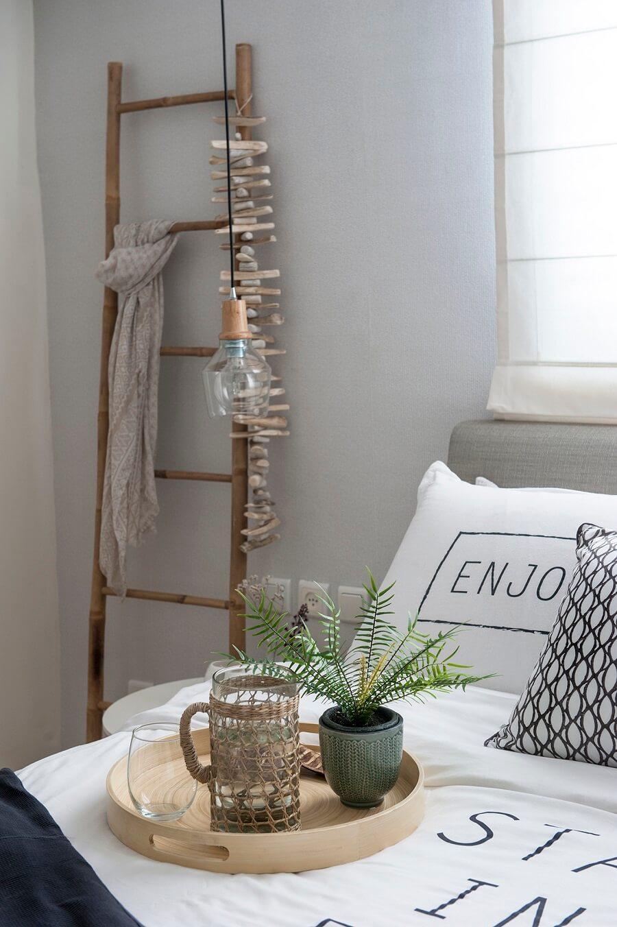 חדר שינה בסגנון נורדי סקנדינבי