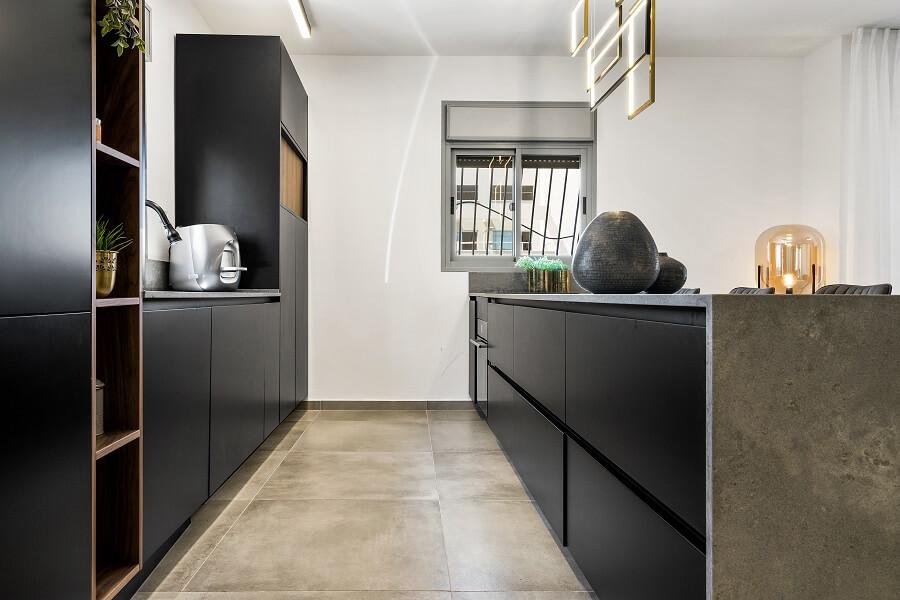 עיצוב מטבח שחור