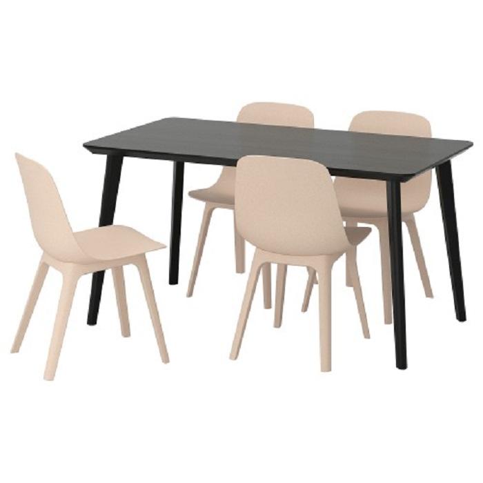 שולחן וארבע כיסאות LISABO/ODGER