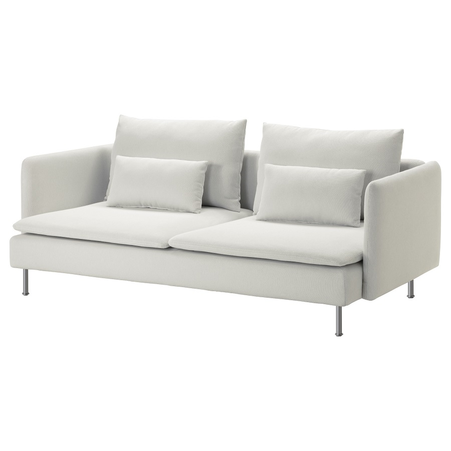 ספה תלת מושבית לבנה איקאה