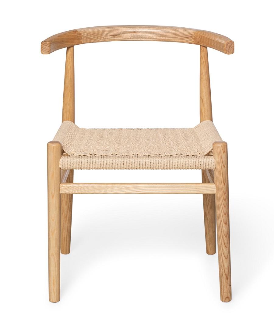 כיסא אוכל מעץ וחבלי ראטן | סטטוס רהיטים