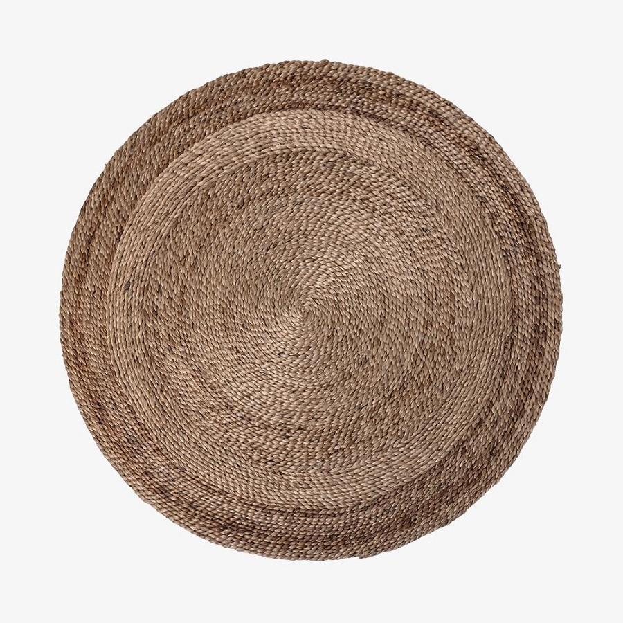 שטיח קש עגול במראה טבעי | קואלה